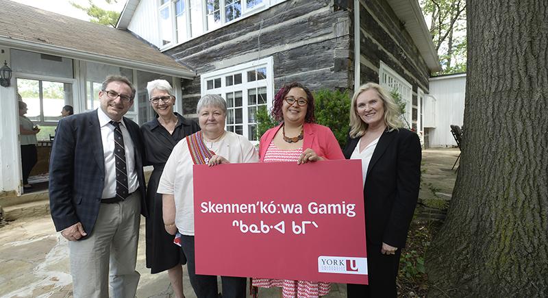 Opening of Skennen'ko:wa Gamig at York University, Keele Campus
